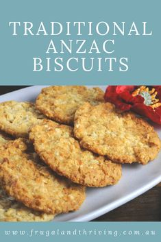 Great all year round, this Anzac biscuit recipe is good for luncboxes as well as with the morning cuppa. Anzac Cookies Recipe, Recipe For Anzac Biscuits, Biscuit Recipe, Australian Cookies, Australian Food, Australian Recipes, Australian Bakery, Biscuit Cake, Crack Crackers