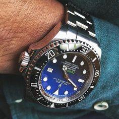 Deepsea 116660 DBlue shot by @deepsea_dblue  #rolex #deepsea #submariner #dblue…