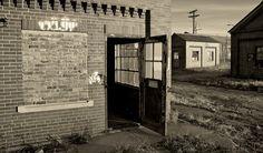 """""""Keep Door Open.""""  Looking into an abandoned site."""