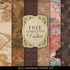 Far Far Hill - Free database of digital illustrations and papers: Freebies Old Japanese Paper Free Digital Scrapbooking, Digital Scrapbook Paper, Digital Paper Freebie, Scrapbooking Freebies, Digital Papers, Japanese Paper, Japanese Background, Asian Cards, Papier Diy