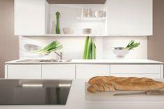 Kitchen splashback with onion motif from Nobilia kitchens.