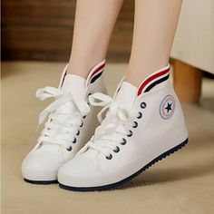 66e626ff1446 Fashionable Women Men Canvas Shoes Sneakers Classic Low High Style Flat  Shoes  Converse  Sneakers