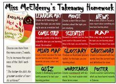 Homework choice board: change and modify for sports theme ( pro, collegiate, varsity, jv)