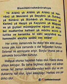 Günlük okuncak Allah Islam, Islam Quran, Islamic Dua, Hafiz, Prayers, Food And Drink, Amigurumi, Pray, Quotes