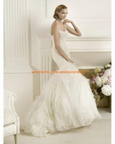Modisches Brautkleid Bodenlang im Meerjungfrauenstil mit Spitze 2013