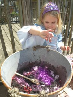 Mud Play Recipes ~ Growing A Jeweled Rose Outdoor School, Outdoor Classroom, Outdoor Learning, Outdoor Play, Mud Pie Kitchen, Magic Mud, Potions Recipes, Forest School Activities, Family Day Care