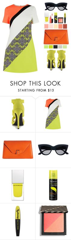 """Orange and Lime"" by southindianmakeup1990 ❤ liked on Polyvore featuring Qupid, Valextra, Givenchy, TRESemmé, L'Oréal Paris, MAC Cosmetics, colorful, fashionset and polyvoreeditorial"