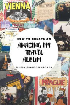 How to Create an Amazing DIY Travel Album using a SMASH Book! Includes inspiration and tips for making your own. blueskiesandopenroads