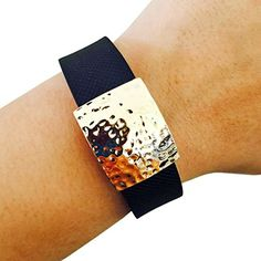 Charm to Accessorize the Garmin Vivofit, Vivosmart HR, Fitbit Charge or Charge HR - The HILARY Charm to Dress Up Your Favorite Fitness Tracker (Hammered Gold, Fitbit Flex) FUNKtional Wearables http://www.amazon.com/dp/B01C9C2QVC/ref=cm_sw_r_pi_dp_FQV2wb0TD0S6Q