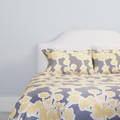 Floral Yellow and Gray Duvet Cover in my future