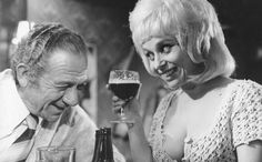 Sid James and Barbara Windsor in Carry On Abroad.