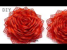 ПЫШНАЯ РОЗА НА ЗАЖИМЕ МК DIY ROSE HAIRCLIP - YouTube Diy Flowers, Fabric Flowers, Ear Tag, Fabric Flower Tutorial, Ribbon Sculpture, Ribbon Art, Diy Hair Bows, Diy Hairstyles, Flower Crown