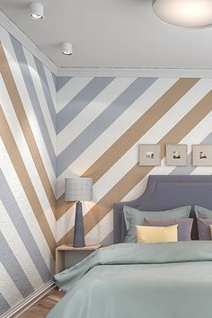 Stencil for Bedroom Wall . Stencil for Bedroom Wall . Stripes Wall Stencil Allover Wall Stencils In 2020 Wall Stencil Designs, Bedroom Wall Designs, Bedroom Wall Colors, Accent Wall Bedroom, Bedroom Paint Design, Wall Colours, Paint Colors, Bedroom Ideas, Bedroom Decor