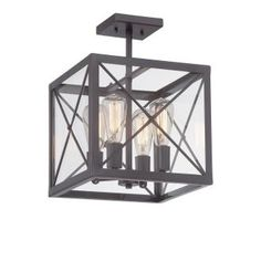 Designers Fountain 87311-SB High Line - Four Light Semi-Flush Mount