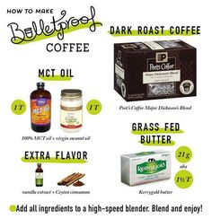 Bullet proof coffee!! LOVE LOVE this and talk about yummy! Perfect for adding more good fat to your Keto diet