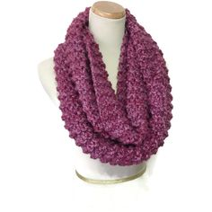 Knit Scarf, Chunky Scarf, Infinity Scarf, Strawberry Scarf, Neck... ($50) ❤ liked on Polyvore featuring accessories, scarves, chunky infinity scarf, tube scarves, infinity scarf, chunky scarves and circle scarf