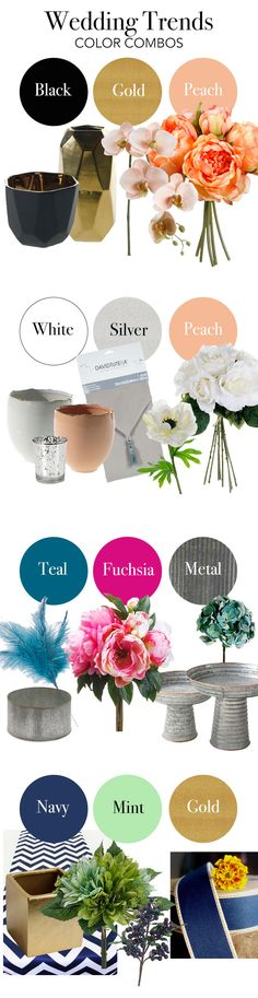 Plan your budget friendly DIY wedding with silk flowers and decorations from afloral.com. #weddingcolors