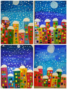 Best 12 Craft For Kids Winter Kindergarten 22 Trendy Ideas – SkillOfKing. Winter Art Projects, Winter Crafts For Kids, Art For Kids, Classroom Art Projects, Art Classroom, Kindergarten Art, Preschool Crafts, Christmas Arts And Crafts, Art Lessons Elementary