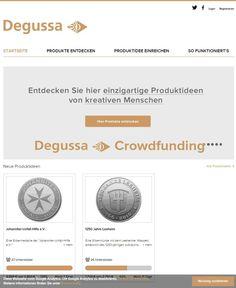degussa-crowdfunding.de: 10 x 1.000 Euro Zuschuss kassieren und eigene Wunschmotive von Degussa in Gold und Silber prägen lassen