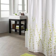 Le rideau de douche lianes en fleurs rideaux de douche - Bain douche nancy ...
