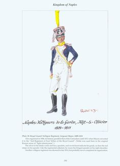 Kingdom of Naples: Plate 38. Royal Guard: Voltigeur Regiment, Sergeant-Major, 1809-1811.