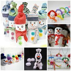 30 Wonderful Snowmen Crafts