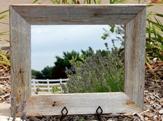 Barnwood Framed Bathroom Mirrors over mantle two tone wood framed mirror, 36x48 inches finished