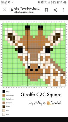 Tiny Cross Stitch, Beaded Cross Stitch, Simple Cross Stitch, Cross Stitch Animals, Cross Stitch Designs, Cross Stitch Patterns, Crochet C2c Pattern, Crochet Motifs, Crochet Chart