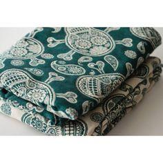 acheter echarpe de portage joy and joe SHIVER ME PAISLEYS green   white,  livraison gratuite 5138e4412f6