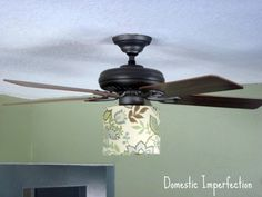 3 ways to spiff up a ceiling fan light globes ceiling fans and ceiling fan lampshades aloadofball Choice Image