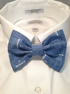Doctor Who Tardis Blueprint Bowtie / Bow Tie by 2Marys on Etsy, $10.00. Guess what Brock's getting for Christmas!