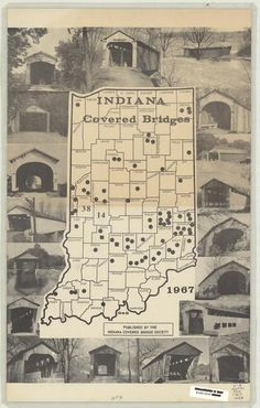 Covered bridges of Indiana.  Wow, I didn't realize we had so many!