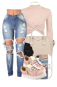 """""""401"""" by xbad-gyalx ❤ liked on Polyvore featuring Topshop, Givenchy, Giuseppe Zanotti and Lana Jewelry"""