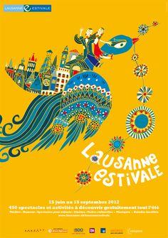 Lausanne Estivale 2012 - Poster