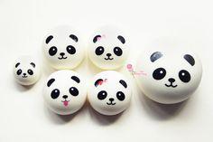 Medium Panda Squishy Bun Charm by UberTiny on Etsy, $3.99