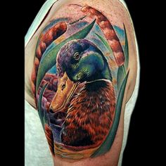 A Mallard duck tattoo. I enjoy doing wildlife tattoos especially when it's one I've never done before, this was a lot of fun to do. #wildlife #nature #animal #duck #cecilporter #color #realism #tattoos #realistic #colorful #tattoo #art #colour #artist #colourful #artistic #ink #inked #tattooed #tatted @fusion_ink @inkmachines_christian @blkpowder @hushanesthetic