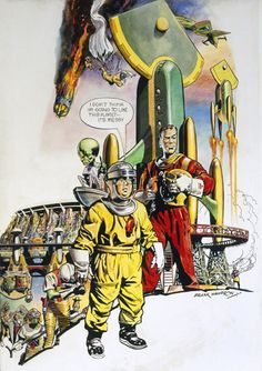 Dare Dare by Frank Hampson. Definitely an influence on Space Captain Smith. Hampson himself was an amazingly talented guy. I don't think any other version has got near the original.