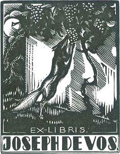 Ex libris by Belgian graphic artist Victor Stuyvaert (1897-1974) - 1934