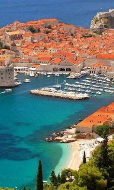# Coast in Dubrovnik, Croatia.