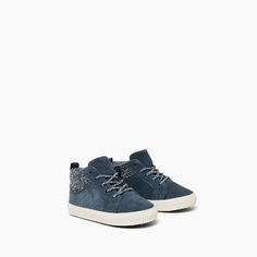 best sneakers 88974 5a4fb LEATHER HIGH-TOP SNEAKERS-SHOES-Baby boy-Baby   3 months -
