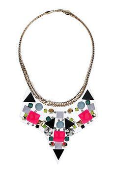 {transparent mix stone collar - topshop}