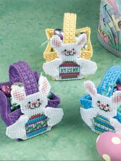 Free plastic canvas pattern tiny easter baskets 13 plastic reminds me of what my great grandma would make for us i have a whole plastic canvas craftsplastic canvas patternseaster negle Gallery