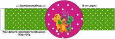 Barney - Kit Completo com molduras para convites, rótulos para guloseimas, lembrancinhas e imagens!