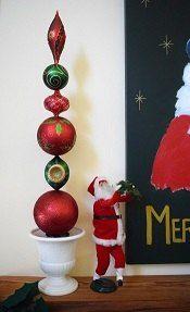 Diy Ornament Topiaries