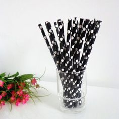 White Paper Straws,Solid White Paper Drinking Straws 500pcs