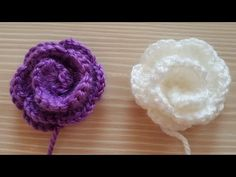 Tığ işi Kolay Örgü Çiçek Nasıl Yapılır🌺 - YouTube Love Crochet, Crochet Shawl, Crochet Doilies, Hairstyle Trends, Dress Neck Designs, Knitted Flowers, Tiny Flowers, Knitting For Beginners, Flower Patterns