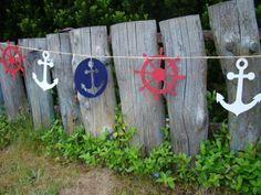 Nautical decor wall banner sea garland sailing by Makammos on Etsy