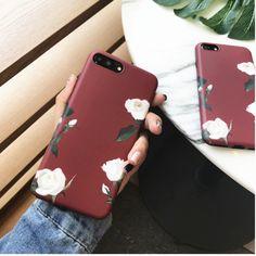 Korean White Rose Phone Case