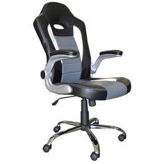 Silla para escritorio de diseño deportivo, racing, imitando el asiento de un coche de competición. Compra al mejor precio
