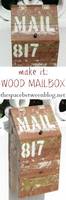 use scrap wood to make an eclectic, one of a kind diy wooden mailbox   Visit & Like our Facebook page! https://www.facebook.com/pages/Rustic-Farmhouse-Decor/636679889706127